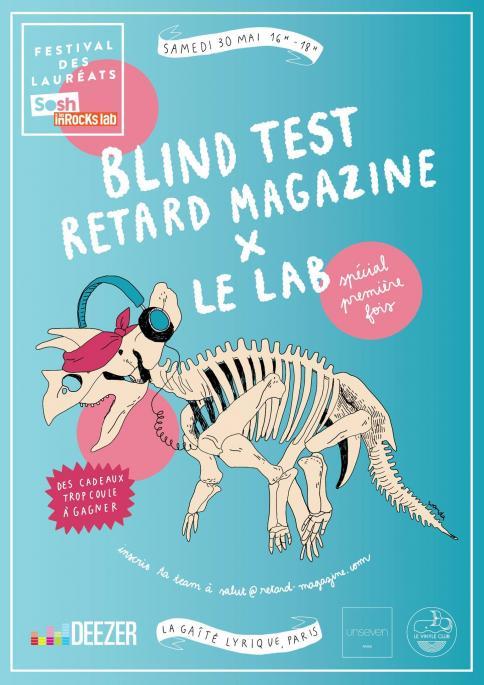 Le 30/05 : Blind test RETARD x Les Inrocks Lab @ La Gaîté Lyrique