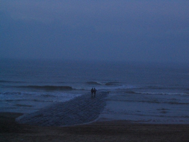 La mer du Nord en hiver, janv. 2006, photo Elia Lesourt